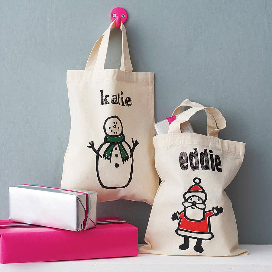 Personalised Christmas Bags